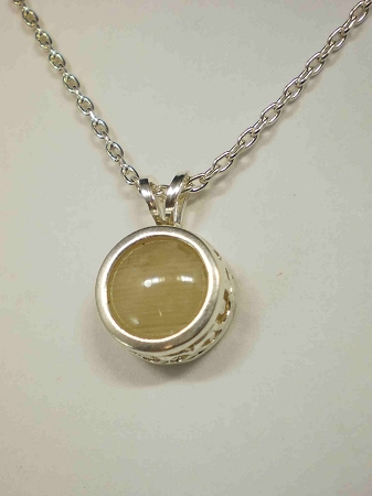 Sterling silver filig equinite gem pendant 8mm w chain addthis sharing sidebar aloadofball Image collections