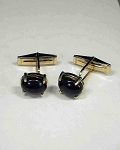 14 kt. Gold 12 x 10mm Oval Prong set Cuff Links
