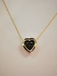 14 kt. Gold Heart Slide Pendant, 7 mm Equinite Gem