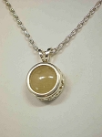 Sterling Silver Filig. Equinite Gem Pendant 8mm w/ Chain
