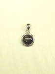 Sterling Silver 10mm Equinite Pendant w/ Sterling Silver Chain