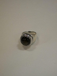 Sterling Silver Ring 12mm Equinite Round Plain