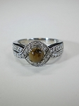 14 kt. White Gold, 42 Diamonds & Equinite Ring