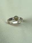 Sterling Silver  6 mm Equinite Ring