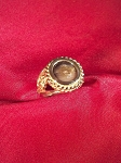 14 kt. Gold Ladies 12 mm Equinite Ring