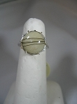 Ladies Sterling Silver Basket Ring w/  11mm Equinite Gem
