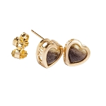 14 kt. Gold 7 mm Heart Filigree Equinite Post Earrings