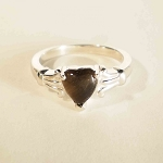 Sterling Silver 6 mm Heart Equinite Ring