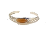 Sterling Silver 22 X 8 mm Oval Cuff Bracelet