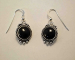Sterling Silver 10mm Round Dangle Equinite Post Earrings
