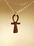 Equinite Ankh with sterling silver chain.