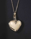 Sterling Silver Fancy Heart Ash holder pendant with chain.