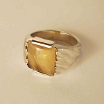 Sterling Silver 11 x 11 mm Square Equinite Ring