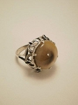 Sterling Silver 17mm Fancy Equinite Ring