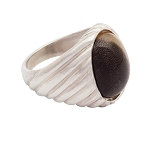 Sterling Silver 12 x 16mm Oval Equinite Ring