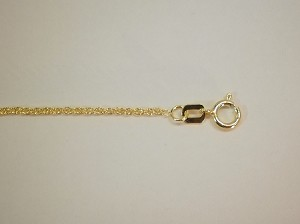 "14 kt. WG Gold 16"" Baby Rope Chain 1.1mm"