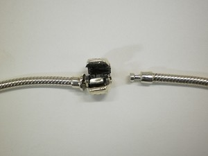Sterling Silver Snake Chain w/ Hinged Clasp