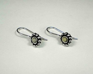 Sterling Silver 3mm Equinite Beaded Wire Earrings