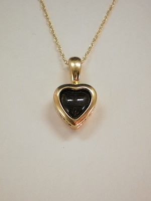14 kt. Gold Heart Pendant 7mm Equinite Gem