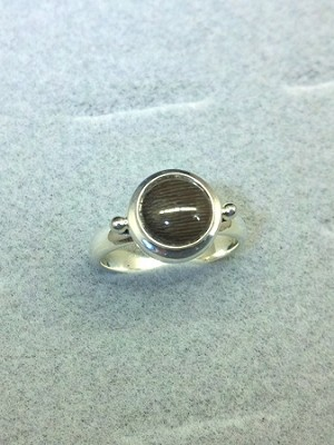 Sterling Silver Ladies 8mm Equinite Ring