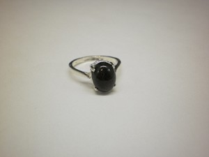 Sterling Silver Plain 8 x 10mm Oval Equinite Ring