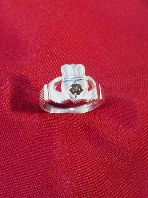 Sterling Silver Claddagh Equinite Ring