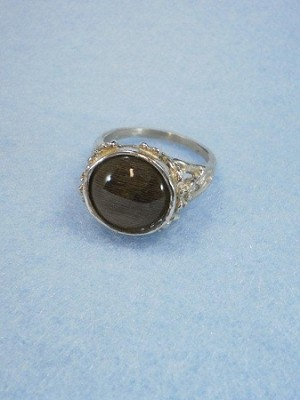 Dressage - Ladies Filagree Sterling Silver 12mm Equinite Ring.
