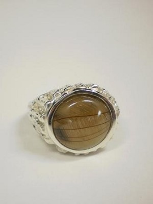 Sterling Silver Ring 13mm Equinite Gem