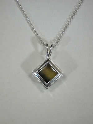 Sterling silver princess pendant w 9mm equinite gem sterling sterling silver princess pendant w 9mm equinite gem sterling silver chain aloadofball Choice Image