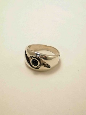 Sterling Silver 4mm Equinite Ring